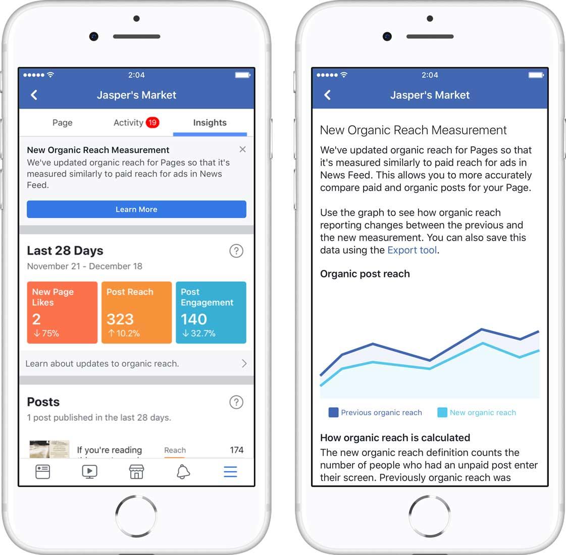 facebook オーガニックリーチの測定方法が変更に ソーシャルメディア
